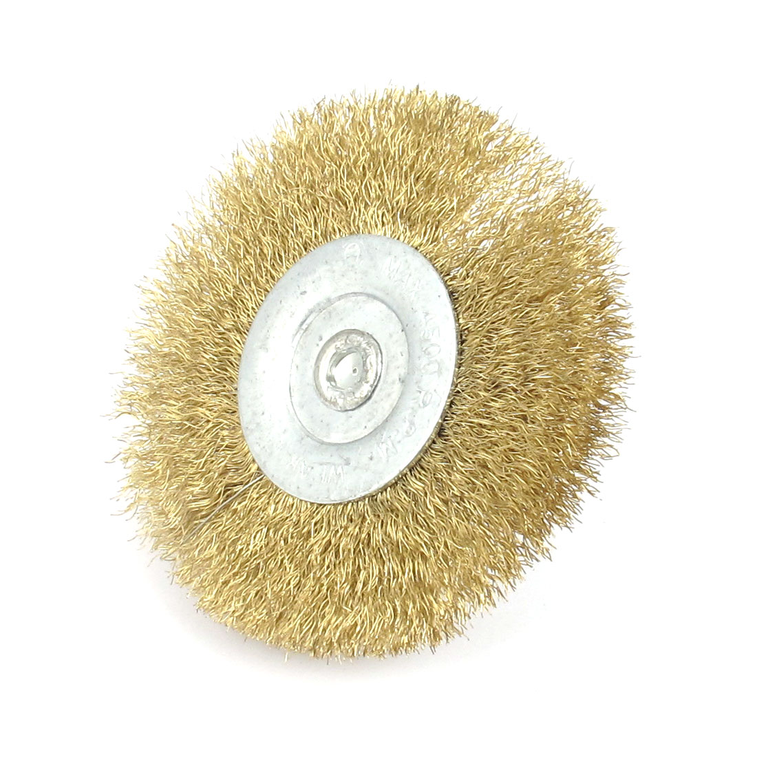 6mm Shank 75mm Dia Crimped Steel Wire Wheel Polishing Brushes 47mm Long