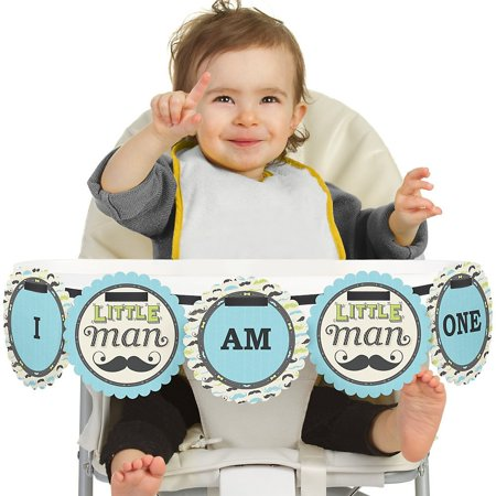 Dashing Little Man Mustache Party 1st Birthday - I Am One - First Birthday High Chair Banner - Iparty Application