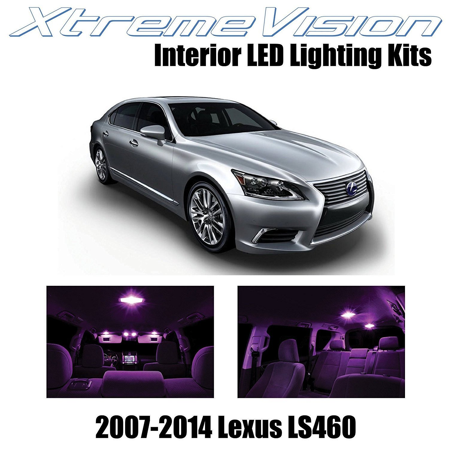 XtremeVision LED for Lexus LS460 LS600h 2007-2014 (13 Pieces) Pure White Premium Interior LED Kit Package + Installation Tool