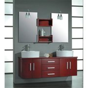 Cambridge Plumbing 5044 59 In. Solid Wood Double Vanity Set