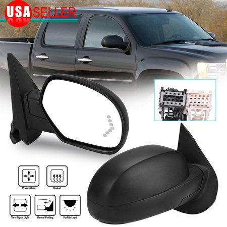 Passenger Right Side Mirror for 2007-2013 Chevy GMC Truck Power Heated Signal Puddle ()