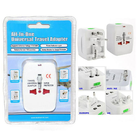 Universal Ac Travel Adapter - Universal Travel Power Converter AC Adapter USB Charger Plug Outlet World Eu Usa