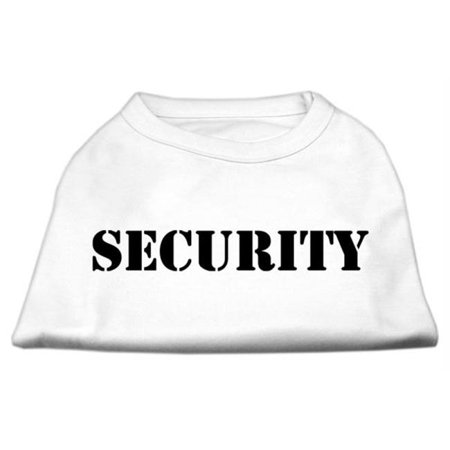 Security Screen Print Shirts White w black text Sm 10