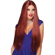Parted Natural Red Wig
