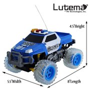 Lutema Police Pickup 4CH Remote Control Truck, Blue and White, One Size