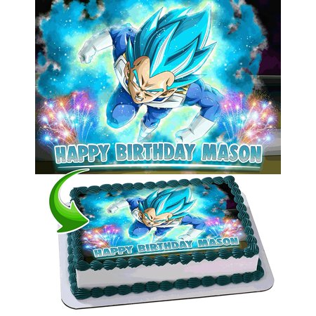 Dragon Ball Super Vegeta Anime Z Saiyan Personalized Cake