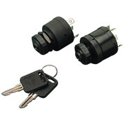 Sea Dog 4-Position Ignition Switch, Magneto Style, Short Shaft, Acc.-Off-Ignition-Start-Choke, 6 Screws, 1 Boss
