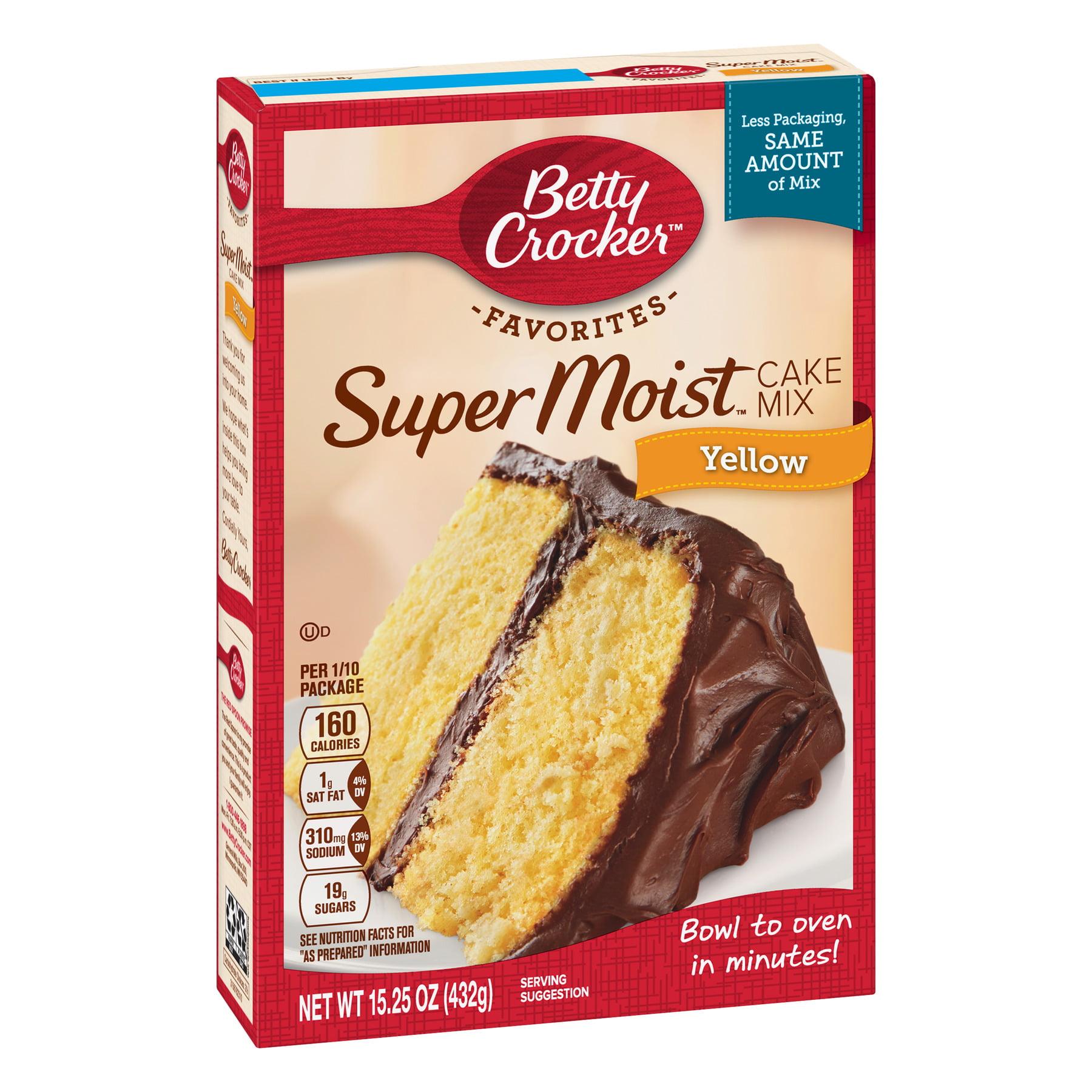 Betty Crocker Super Moist Yellow Cake Mix 1525 Oz Walmart