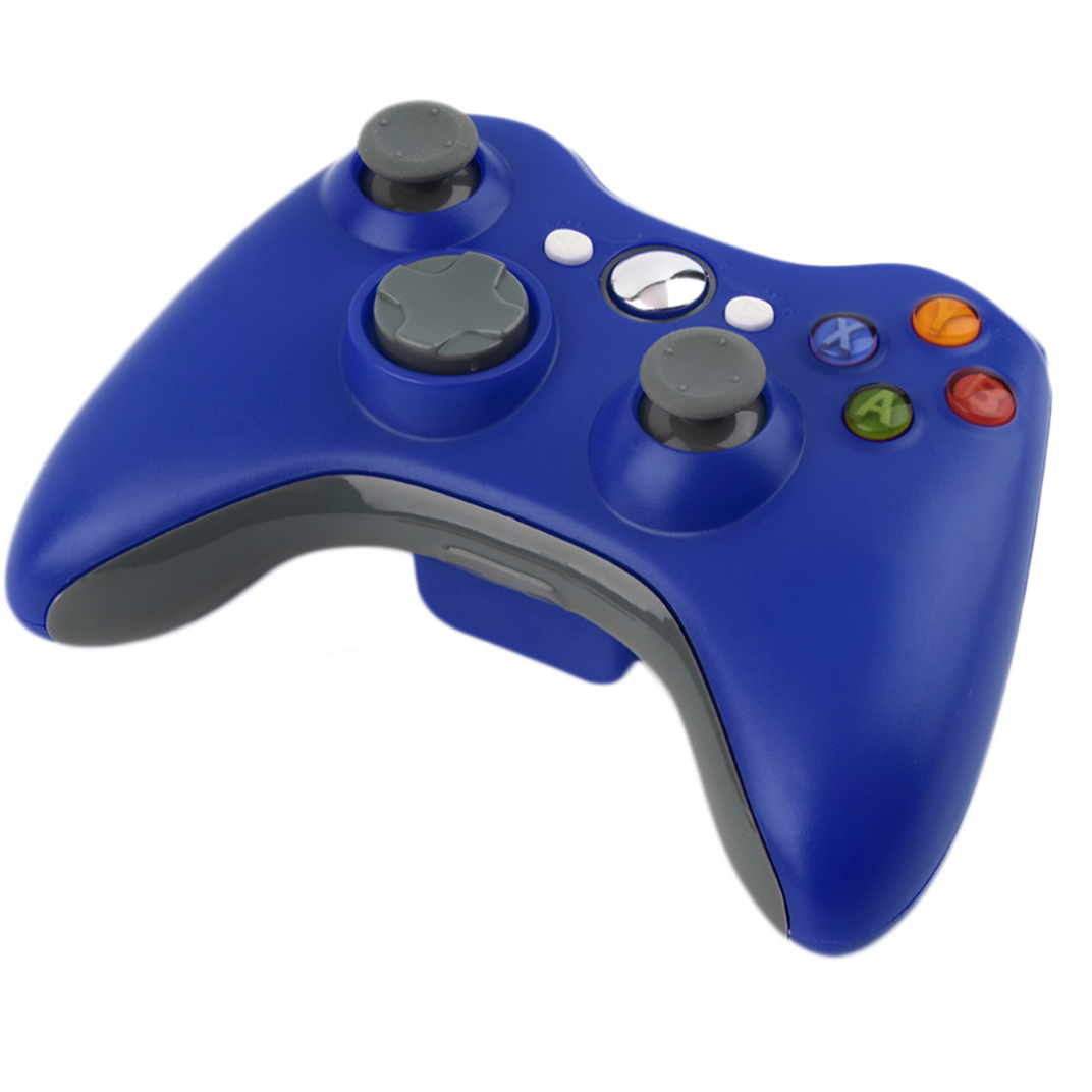 Blue Wireless Game Controller for Xbox 360 Game-pad for Windows PC