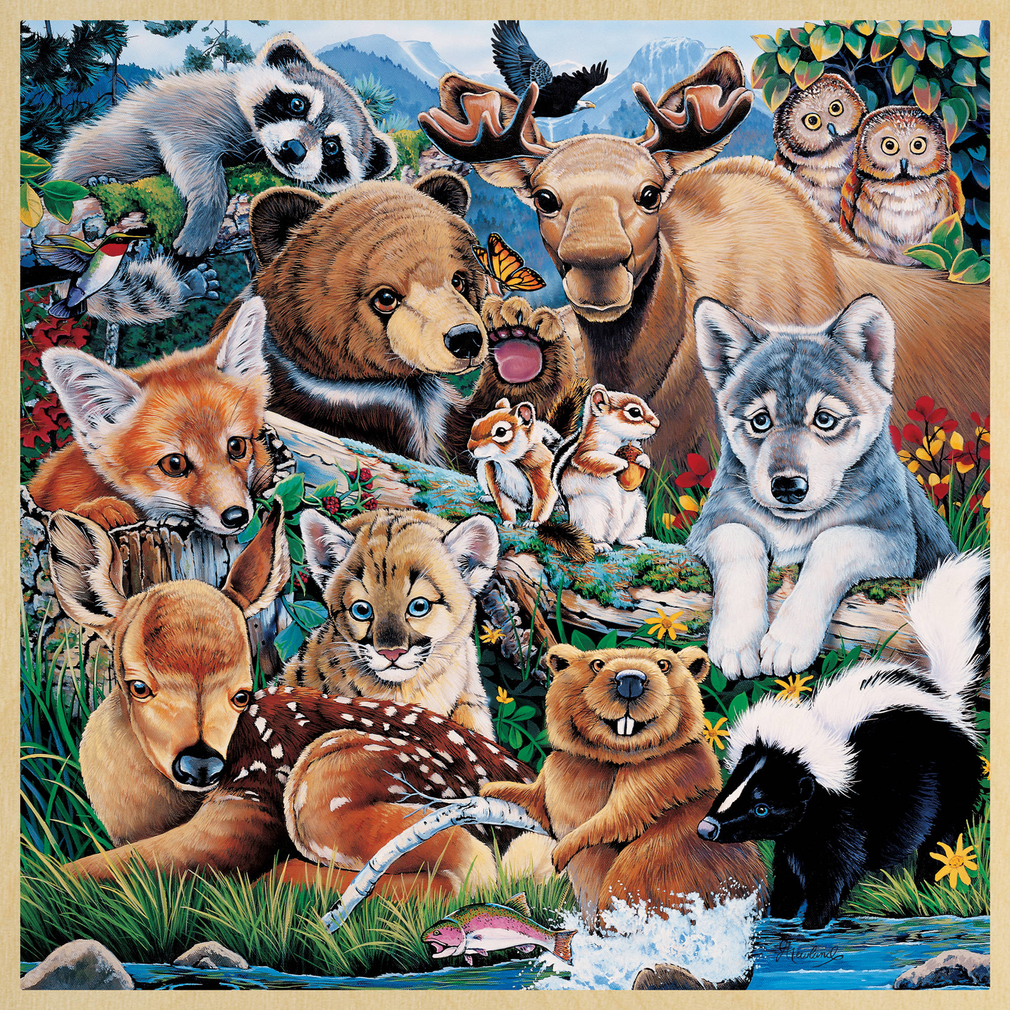 MasterPieces Forest Friends 48 Piece Puzzle