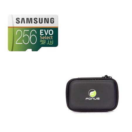 Samsung Evo 256GB MicroSD Memory Card Micro-SDXC High Speed + Carry Case N1V Compatible With Samsung Galaxy J3 Emerge, Note 4 3 J7 (2018) Refine Halo A6 A5 - ZTE Tempo X, ZMax Pro Z981, Max