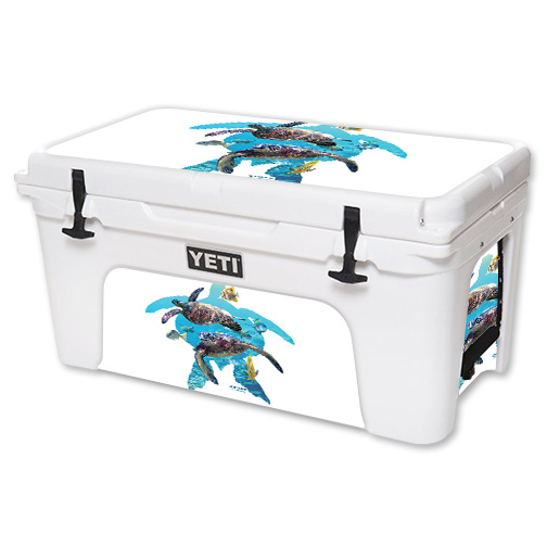 Skin For YETI Tundra 65 qt Cooler – Turtly Cool | MightySkins Protective, Durable, and Unique Vinyl Decal wrap cover | Easy To Apply, Remove, and Change Styles | Made in the USA