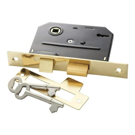 "First Watch 1155 2-3/8"" Backset Bit Key Mortise Lock with Classic Keys"