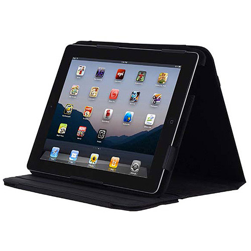 Incipio Premium Kickstand with stylus for the new iPad - Black Syn Leather