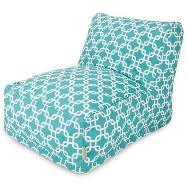 Majestic Home Teal Links Bean Bag Chair Lounger