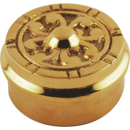 """Flush Decorative End Cap - Polished Brass - 2"""" OD"""