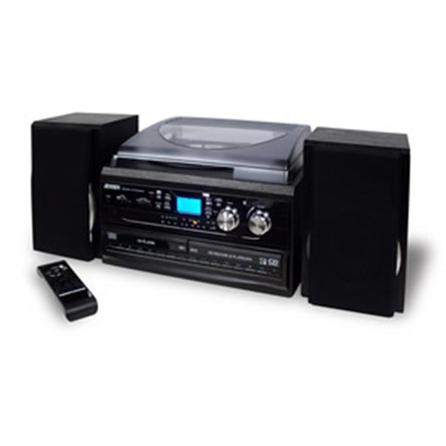 Spectra Merchandising JEN-JTA-980 3-Speed Turntable with 2 CD player-