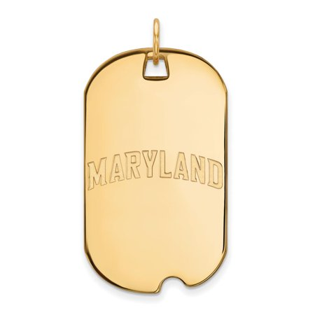 Maryland Large (3/4 Inch) Dog Tag (10k Yellow Gold) - Halloween 10k Maryland