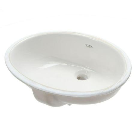 American Standard Ovalyn Undermount Bathroom Vessel Sink in White Square Undermount Bathroom Sinks