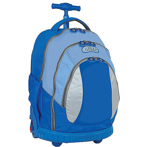 J World Sweet Kids Rolling Backpack, Sky Blue