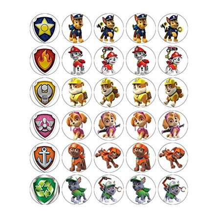 Paw Patrol Cupcake Toppers Edible Frosting Image Paper 30ct](Edible Halloween Cupcake Toppers)