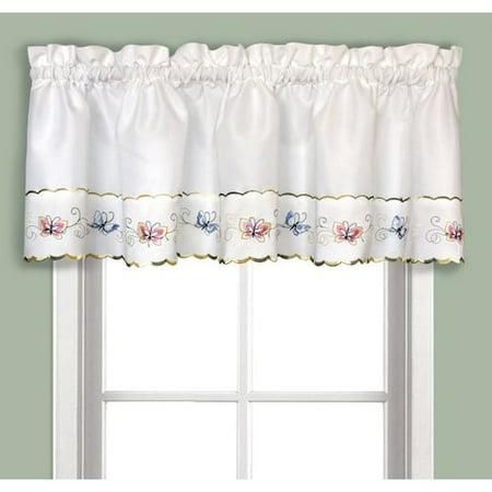 Butterfly embroidered kitchen curtain - Kitchen curtains walmart ...