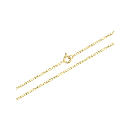 18k Gold Plated Link Chain Necklace Unisex Girl Boy 16