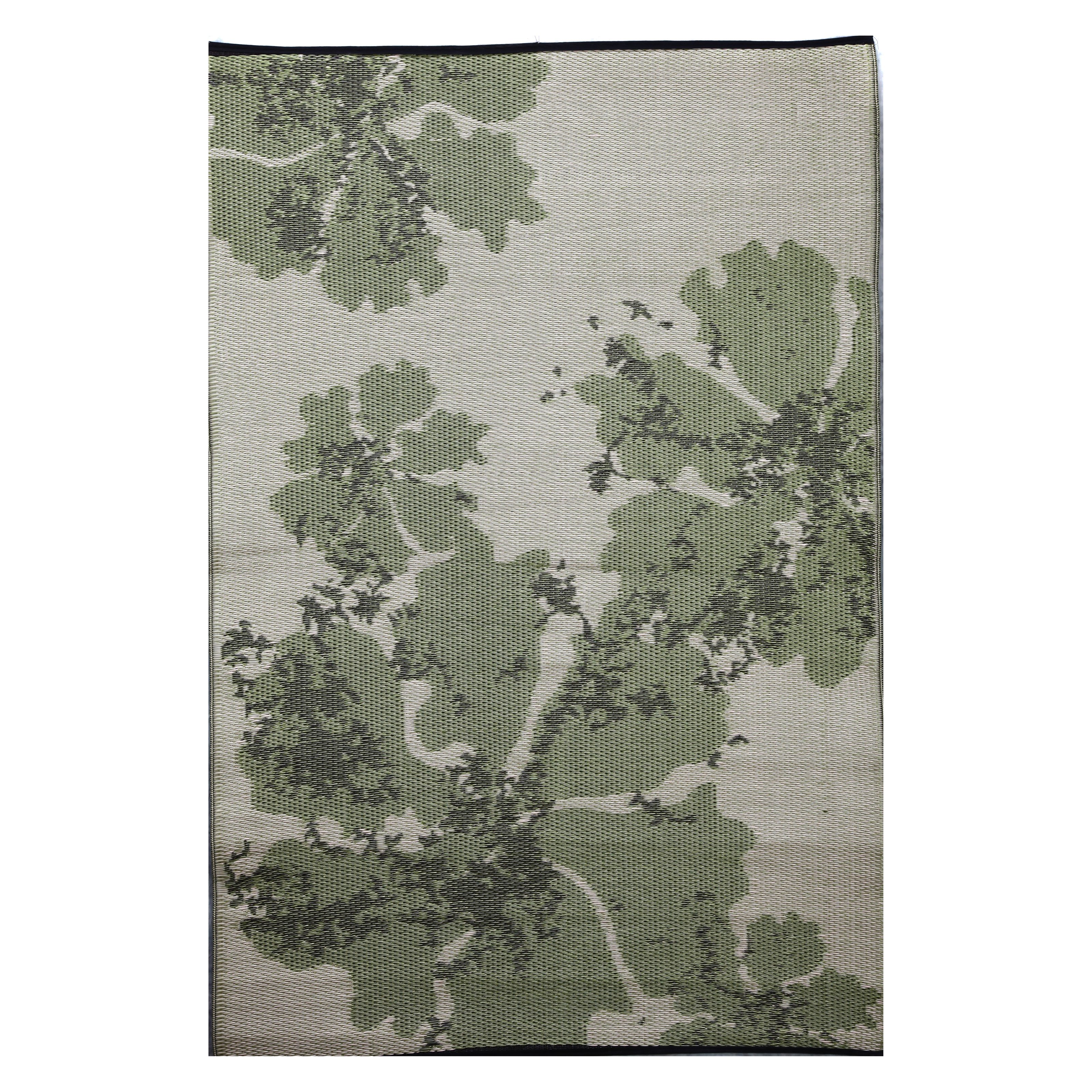 B B Begonia Boca Green And Beige Reversible Outdoor Area