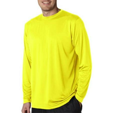 2bfe2b91 UltraClub - UltraClub 8422 Adult Cool & Dry Sport Long-Sleeve Performance  Interlock Tee - Bright Yellow, Large - Walmart.com