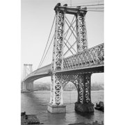 Buy Enlarge 0-587-46149-LP12x18 Williamsburg Bridge  New York  N. Y. - Paper Size P12x18