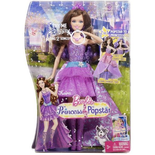 Barbie: The Princess and the Popstar 2-in-1 Doll, Kiera Doll