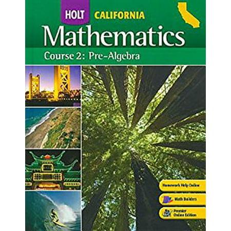 Holt Mathematics : Studten Edition (Spanish) Course 2 2008 ()