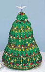 Cousins Green Safety Pin Christmas Tree Kit