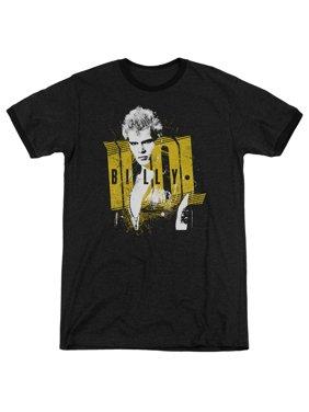 Billy Idol Brash Mens Adult Heather Ringer Shirt