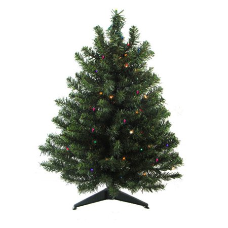 LED Pre Lit Natural 2 Tone Pine Artificial Tabletop Christmas Tree - Darice 2 Ft. LED Pre Lit Natural 2 Tone Pine Artificial Tabletop