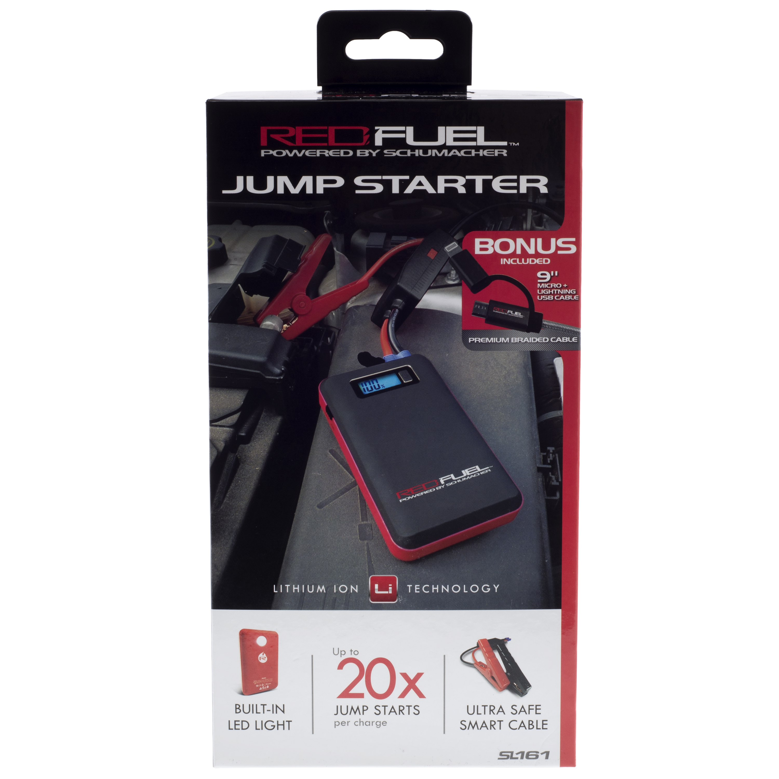 Red Fuel Portable Jump Starter And Battery Charger Image 7 Of 8 Red Fuel  Portable Jump