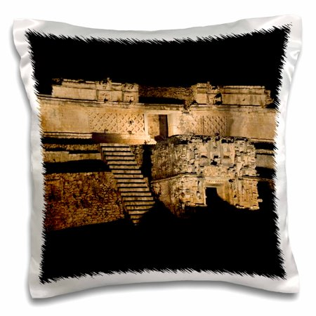 3dRose Mexico, Yucatan, Uxmal, Pyramid of the Magician - SA13 CSL0220 - Charles Sleicher - Pillow Case, 16 by 16-inch ()