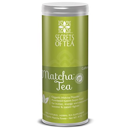 Secrets of Tea - Organic Matcha Green Herbal Tea - Certified USDA Organic Tea from Japan for Improved Hair & Skin Health,  Energy and Metabolism Boosting w/ Rich  Antioxidants (20