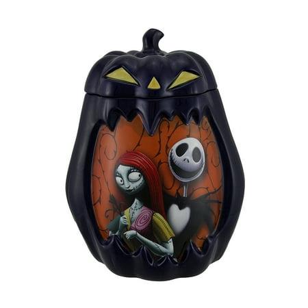 Sally And Jack Skellington Nightmare Before Christmas Evil Pumpkin Cookie Jar