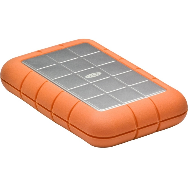 LaCie Rugged Triple LAC9000448 2 TB External Hard Drive - USB 3.0, FireWire/i.LINK 800 - SATA - 5400rpm - Portable - Orange, Silver - 1 Pack