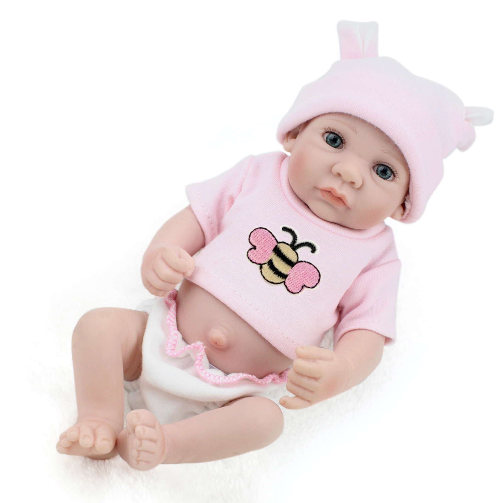 """10"""" Reborn Baby Realike Doll Handmade Lifelike Silicone Vinyl Doll for Toddler Gifts"""