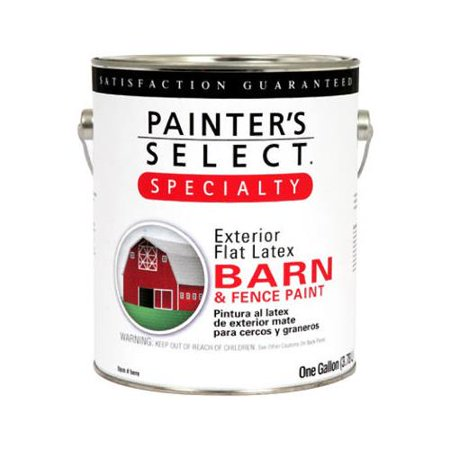 Fence Latex (True Value Mfg 940-GL Barn & Fence Paint, Latex, Flat, Ranch Red, 1-Gal., Must Purchase in Quantities of 2 )