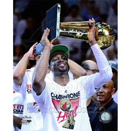 Photofile PFSAAOZ15001 Dwyane Wade with the NBA Championship Trophy Game 5 of the 2012 NBA Finals Sports Photo - 8 x 10