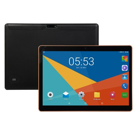 "10.1"" 4G-LTE Android 8.0 Tablet - 8 + 128GB, Dual SIM with GPS Color:Black"