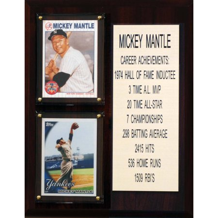 Issue Mickey Mantle - C&I Collectables MLB 8x10 Mickey Mantle New York Yankees Career Stat Plaque