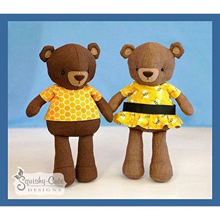Teddy Bear Sewing Pattern - Stuffed Animal Bear Plushie Pattern ...
