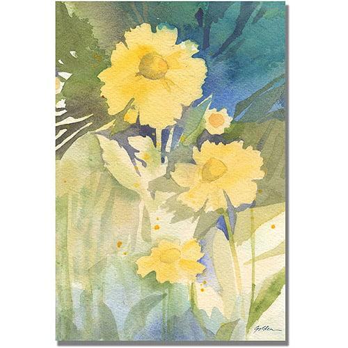 Trademark Art 'Sunshine Yellow' Canvas Art by Shelia Golden
