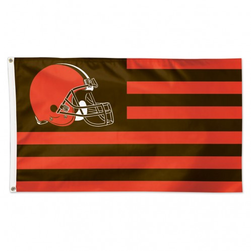 Cleveland Browns Flag 3x5 Deluxe Americana Design