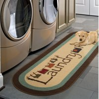 "Ottomanson Laundry Mat Runner Rug, Brown, 20""X59"" Oval"