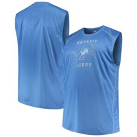 Men's Majestic Blue Detroit Lions Big & Tall Endurance Test Muscle Tank Top
